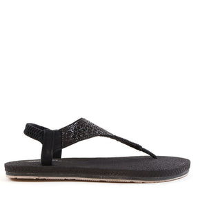 Flat Slingback Soft Sole Sandals In Black