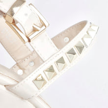 Load image into Gallery viewer, Raye Cream Wedge Heel With Stud Detail