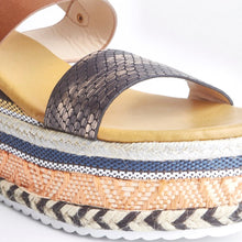 Load image into Gallery viewer, Romy Tan Aztec Wedge Sandals