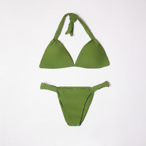 Verona Green Tie Up Knot Triangle Bikini