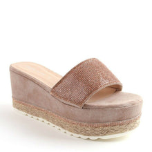 Load image into Gallery viewer, Gaby Flatform Wedge Mule In Blush