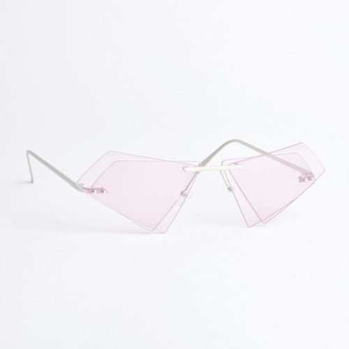 Texas Pink Geometric Sunglasses