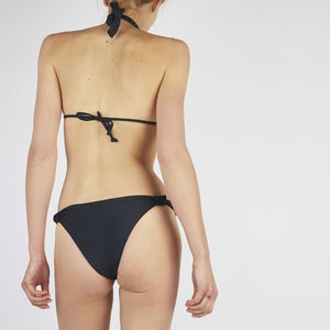Verona Black Tie Up Knot Triangle Bikini