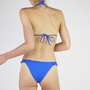 Verona Blue Tie Up Knot Triangle Bikini