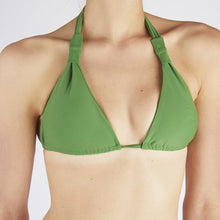 Load image into Gallery viewer, Verona Green Tie Up Knot Triangle Bikini
