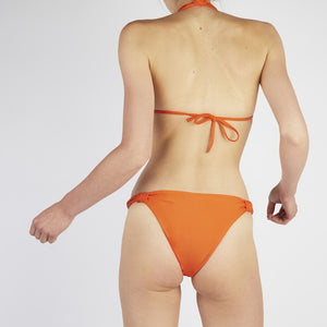 Verona Orange Tie Up Knot Triangle Bikini