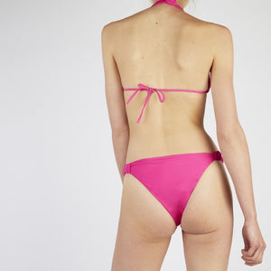 Verona Pink Tie Up Knot Triangle Bikini