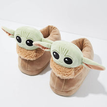 Load image into Gallery viewer, The Child Baby Yoda Retro Plush Unisex Slippers