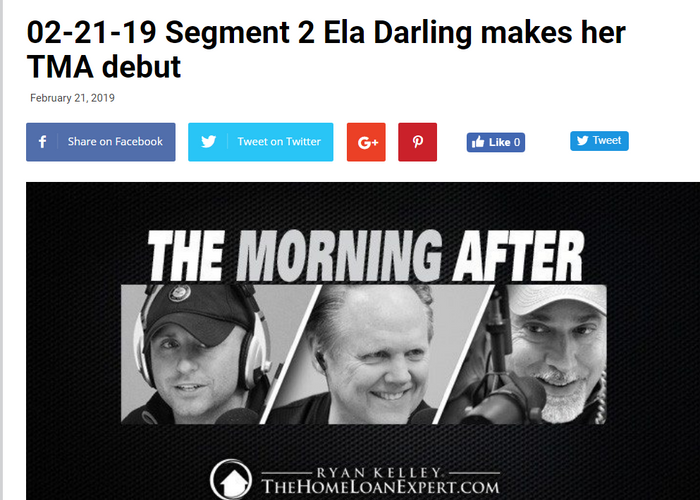 Ela Darling makes her TMA debut in Iggy's Interview of the Week
