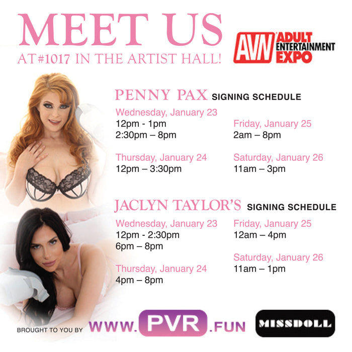 IRIS VR, MissDoll, Jaclyn, Penny, 50% off Scene sale.. PVR turns all AVN Expo Guests on!