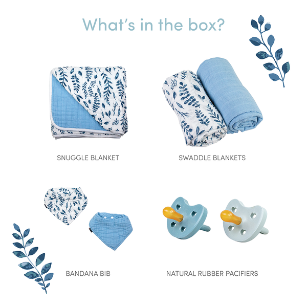 Blue Leaves Baby Box - Favorites