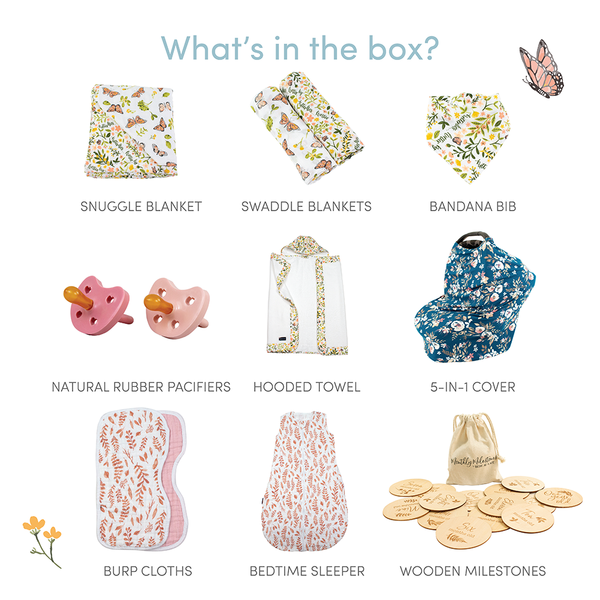 Butterfly Garden Baby Box - Luxe