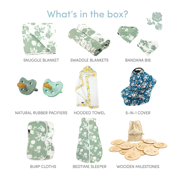 French Floral Baby Box - Luxe