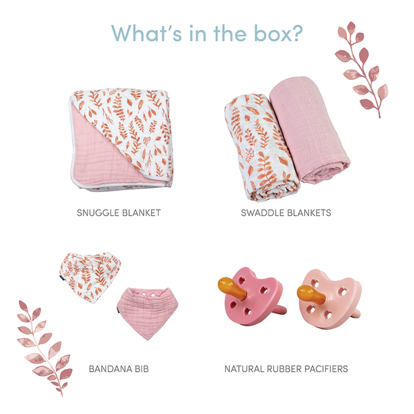 Pink Leaves Baby Box - Favorites