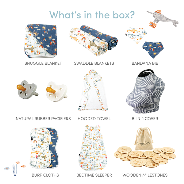 Sunny Narwhal Baby Box - Luxe