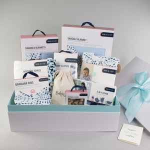 Sweet Sky Blue Baby Box - Luxe