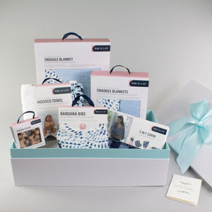 Sweet Sky Blue Baby Box - Wishes