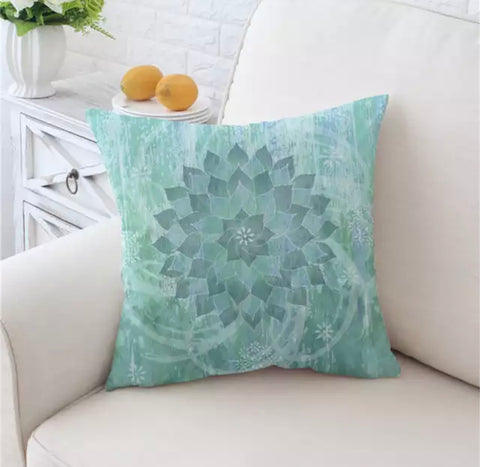 Green Mandala Cushion Cover