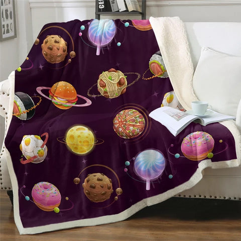 Food Planets Throw Rug