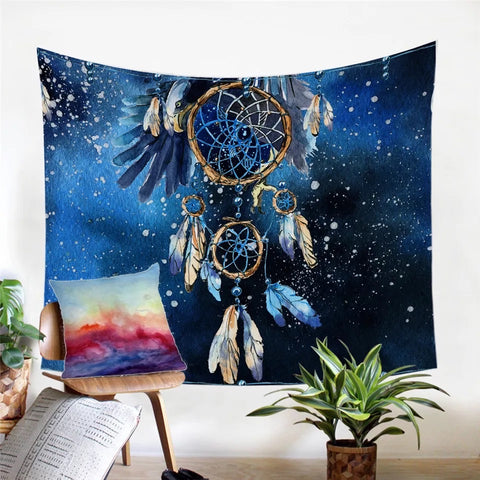 Bald Eagle Dreamcatcher Wall Tapestry