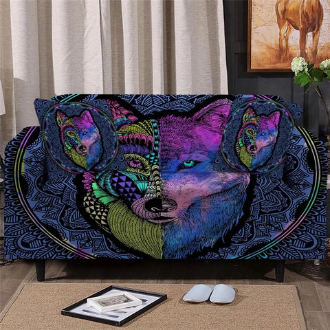 Artistic Wolf Sofa Cover