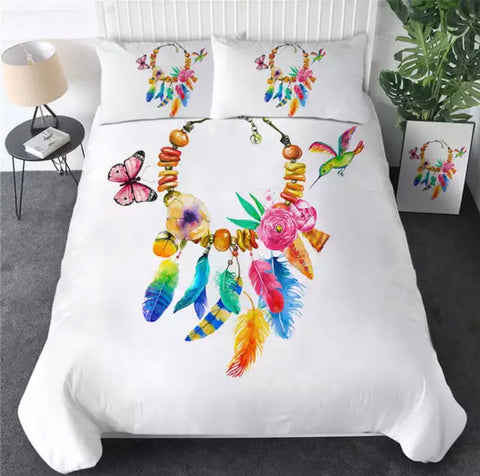 Dreamcatcher Inspired Necklace Bedding Set