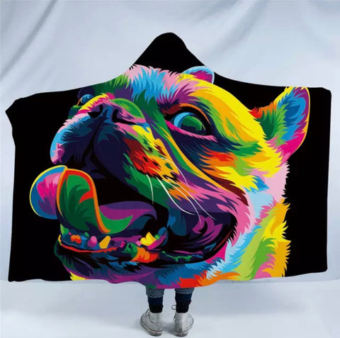 Loyal Bulldog By Weer Hooded Blanket
