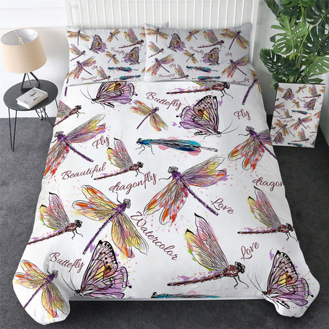 Dragonflies & Butterflies  Bedding Set