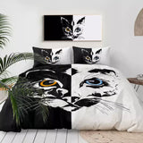 Orange Eye, Blue Eye Cats Bedding Set