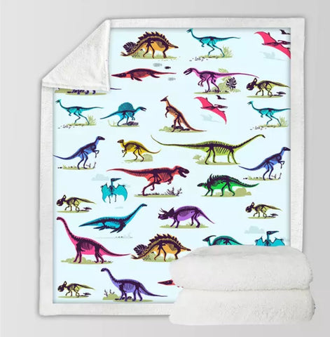 Dinosaur With Visable Skeleton Throw Rug