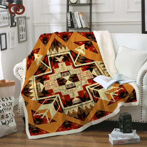 American Indian Style Throw Rug