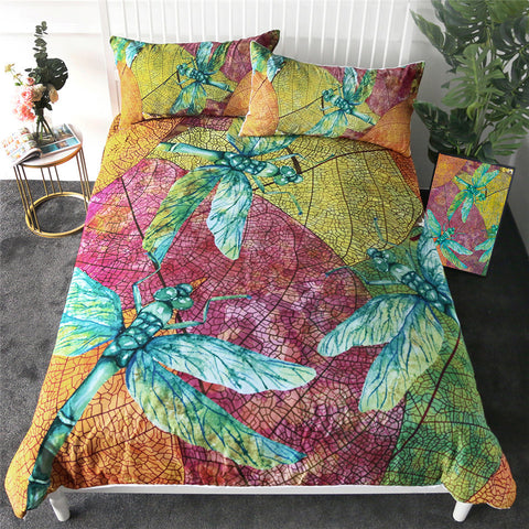 Three Dragonflies Bedding Set