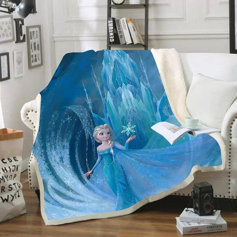 Elsa's Ice Palace Throw Rug