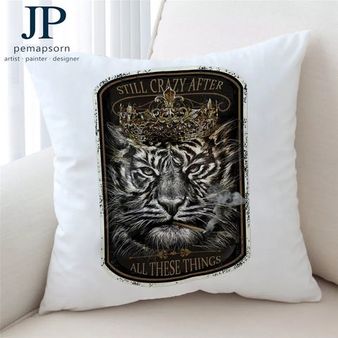 Tiger King By JP.Pemapsorn Cushion Cover