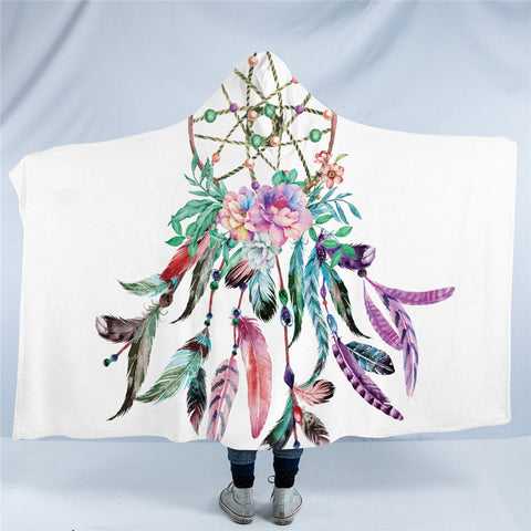 Large Dreamcatcher Hooded Blanket