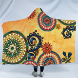 Mexican Mandala Hooded Blanket