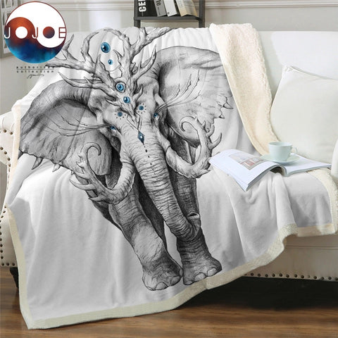 Elephant Soul by JoJoesArt Throw Rug