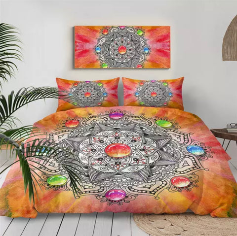 Gemstone Mandala Bedding Set