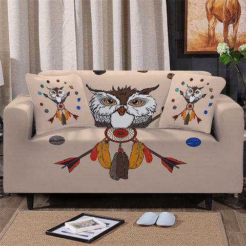 American Indian Owl Dreamcatcher Sofa Cover