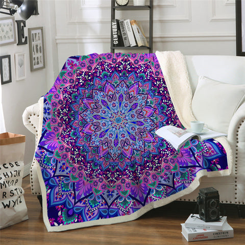 Purple & Pink Mandala Throw Rug