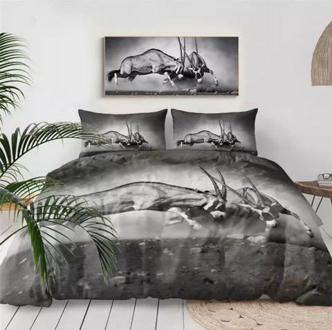 Antelope Fighting Bedding Set