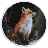 Careful Fox Round Towel