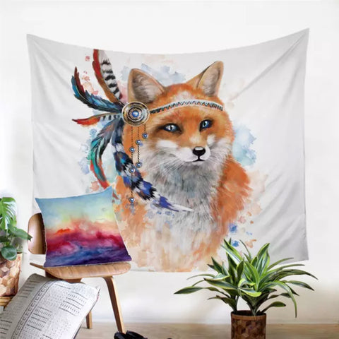 Indian Fox Wall Tapestry