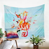 Butterflies & Notes Wall Tapestry