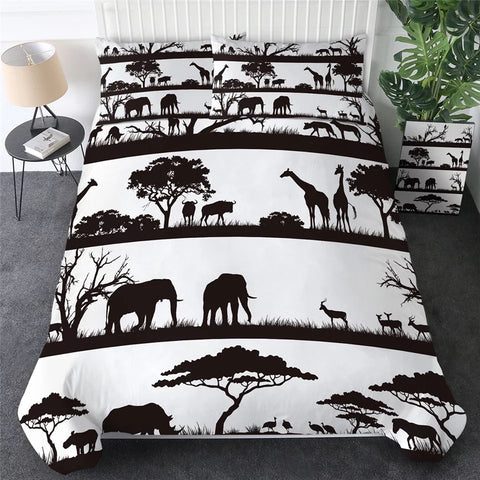 Black & White African Savanna Bedding Set