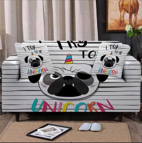 I Try To Be Unicorn Sofa Cover