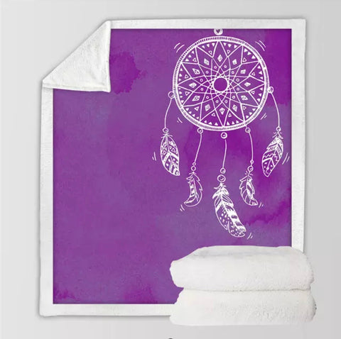 Purple Dreamcatcher Throw Rug
