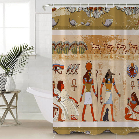 Ancient Egyptian Hieroglyphs Shower Curtain