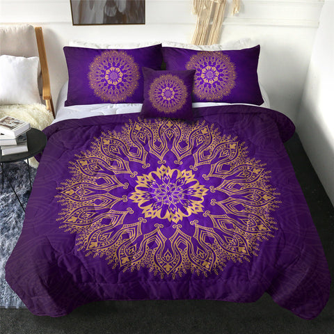 Mandala Flower (Purple) Comforter Set