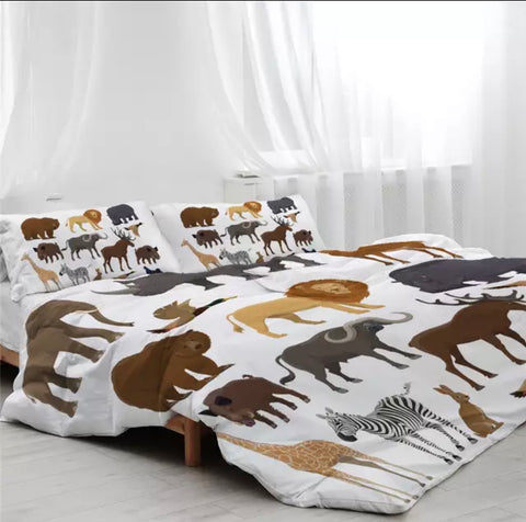 Wild Animals Of The World Bedding Set